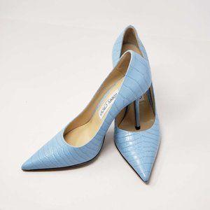 Jimmy Choo Pumpus Light Blue Leather High Heel